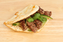 Steak flatbread Stock Photos