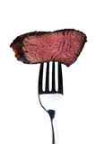 Steak on a fork