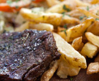 Steak and french fries Royalty Free Stock Image