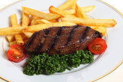 Steak and french fries Royalty Free Stock Photography