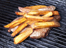 Steak and French Frites Stock Photos