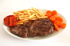 Steak and fries 2 Royalty Free Stock Photo