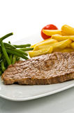 Steak and fries Royalty Free Stock Photo
