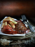 Steak & Fries Royalty Free Stock Image