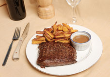 Steak Frite 1 Royalty Free Stock Photos