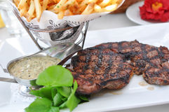 Steak Frite Stock Photography