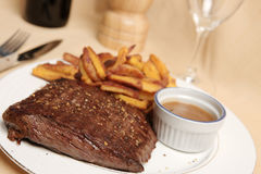 Steak frite 4 Stock Photo
