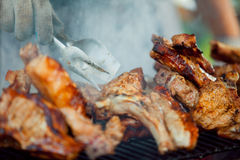 Steak on the grill Royalty Free Stock Image