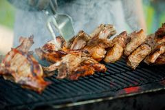Steak on the grill Royalty Free Stock Photos