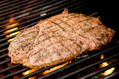 Steak on the Grill Stock Image