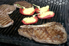 Steak on the grill Royalty Free Stock Images