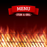 Steak and grill house menu. Vector background Royalty Free Stock Photo