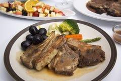 Steak of grill lamb Stock Image