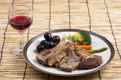 Steak of grill lamb Royalty Free Stock Image