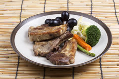 Steak of grill lamb Stock Image