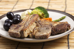Steak of grill lamb Stock Photography