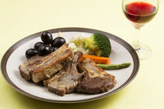 Steak of grill lamb Royalty Free Stock Photos