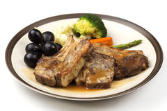 Steak of grill lamb Royalty Free Stock Photo