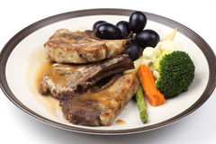 Steak of grill lamb Stock Photos