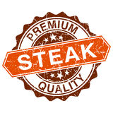 Steak grungy stamp. Isolated on white background royalty free illustration
