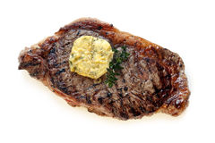 Steak with Herb Butter Stock Photos