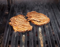 Steak, hot barbecue grill. Royalty Free Stock Photo