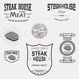Steak house badges logos and labels for any use Royalty Free Stock Photo