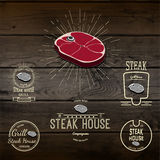 Steak house badges logos and labels for any use Stock Photos