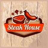 Steak house logo Royalty Free Stock Photo