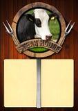 Steak House - Menu Design Stock Photography