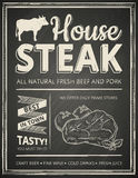 Steak house poster Royalty Free Stock Images