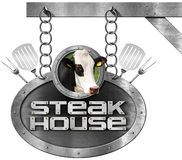 Steak House - Sign with Chain Royalty Free Stock Photo