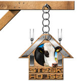 Steak House - Sign with Chain Stock Image