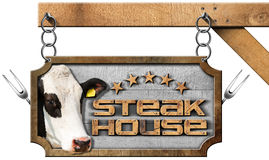 Steak House - Sign with Chain Royalty Free Stock Photography