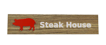 Steak house sign Royalty Free Stock Photo