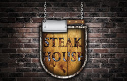 Steak house sign. Stock Images