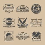 Steak house vintage  label set Stock Image