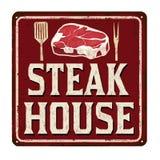 Steak house vintage rusty metal sign Royalty Free Stock Image