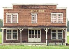 Steak house in Wild West style Stock Photos