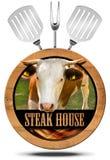 Steak House - Wooden Symbol Royalty Free Stock Photo