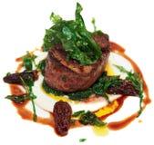 Steak isolated on white Royalty Free Stock Photos