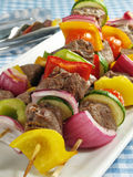 Steak Kebabs Stock Photography