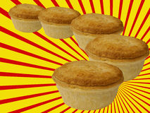 Steak and kidney meat pies Stock Photography