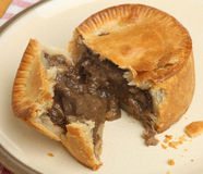 Steak & Kidney Pie Stock Photo