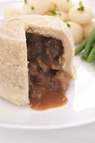 Steak and Kidney Pudding Stock Photo