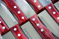 Steak knives pattern Royalty Free Stock Photo