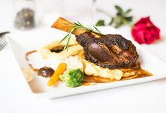 Steak lamb shank Royalty Free Stock Photo