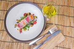 Steak layer fish Stock Photography