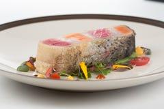 Steak layer fish Royalty Free Stock Photos