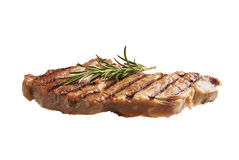 Steak Lightly Flying on white Royalty Free Stock Photo